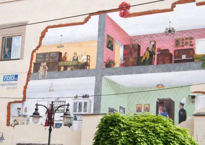 zbliżenie - namalowane pokoje