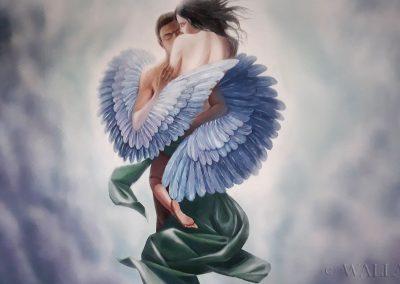 wykonane malowidło - anioł