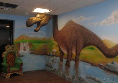 malowidło ścienne - dinozaur