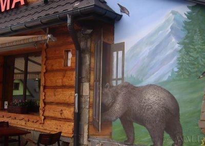 namalowany niedźwiedź