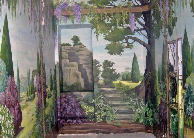 wykonane malowidło - ogród