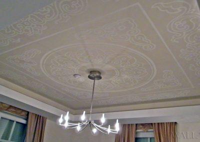 pomalowany sufit - ornamenty