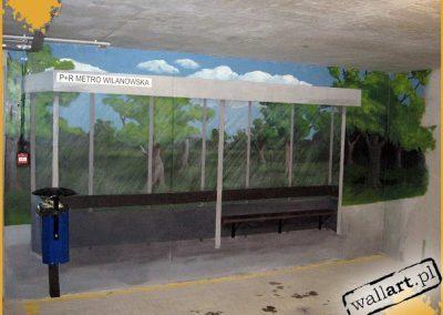 namalowany przystanek autobusowy