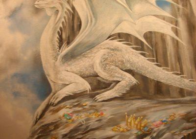 wykonane malowidło - namalowany smok
