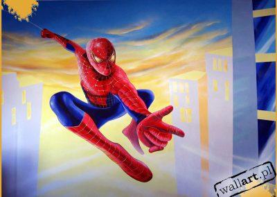 namalowany spiderman