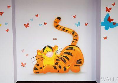 wykonane malowidło - tygrys