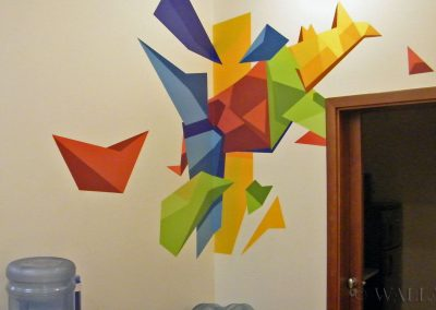 wykonane malowidło w biurze