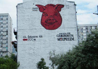 mural - Oberża pod Czerwonym Wieprzem