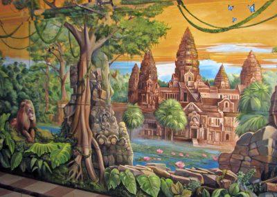 wykonane malowidło - Angkor Wat