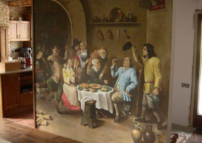 wykonane malowidło - obraz Król Pije