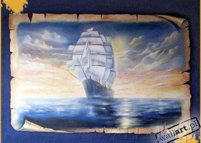 wykonane malowidło statku