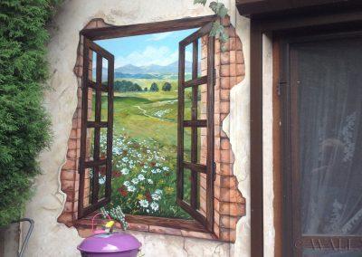 pomalowana ściana - wirtualne okno