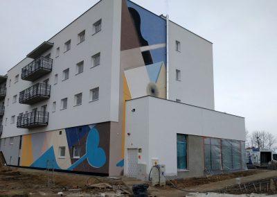 wykonany mural - osiedle Futura