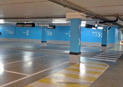 pomalowane ściany - SIW oznakowanie parkingu Olsztyn