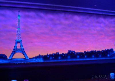 malowidło fluorescencyjne UV - Paryż - Wieża Eiffla