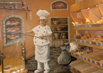 wykonane malowidło - piekarnia Putka