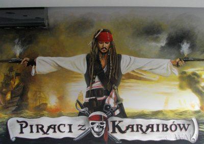pomalowana ściana - Piraci z Karaibów