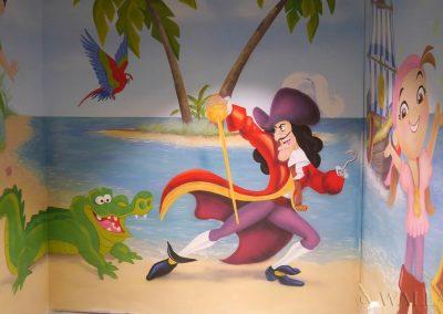 wykonane malowidło - pirat