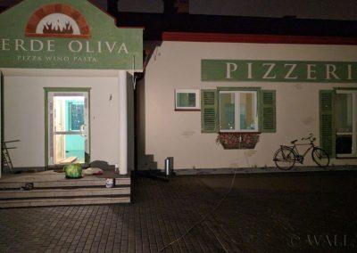 pomalowana elewacja Oliva Verde