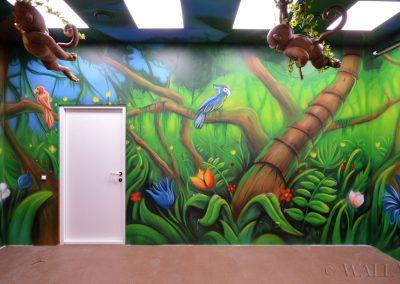 pomalowane ściany - dżungla