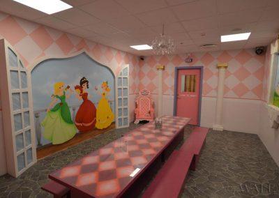 pokój urodzinowy księżniczek