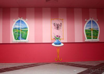 pomalowany pokój - zamek