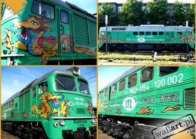 pomalowana lokomotywa
