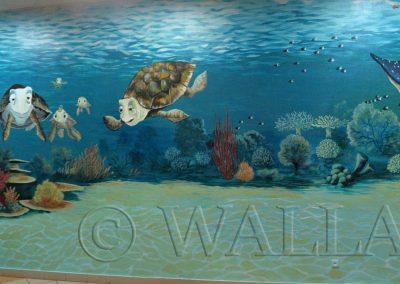 wykonane malowidło - rafa koralowa