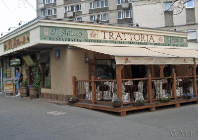 namalowany szyld restauracji