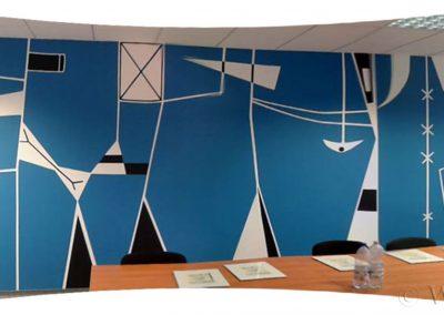 wykonane malowidło - sala konferencyjna