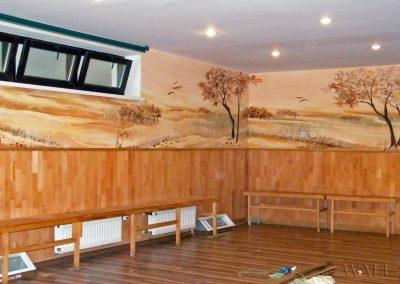 wykonane malowidło - sala sportowa