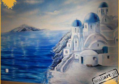 wykonane malowidło Santorini