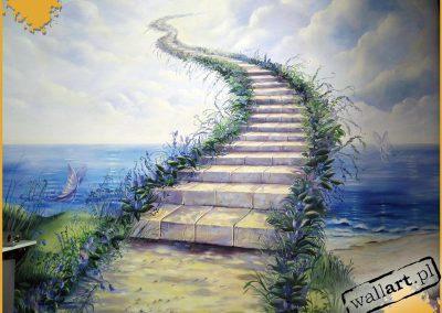 namalowane schody do nieba