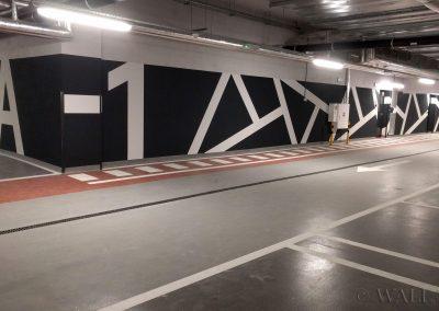 pomalowane ściany - system identyfikacji wizualnej