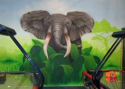 malowidło ścienne - słoń