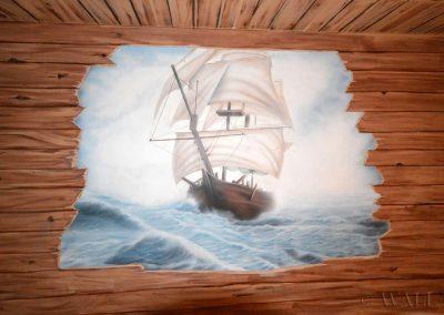 namalowany statek