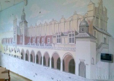 wykonane malowidło - Sukiennice Kraków