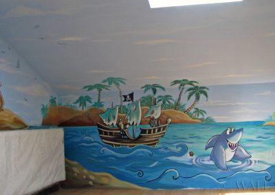 wykonane malowidło - wyspa piratów