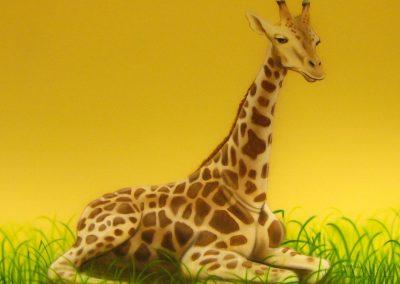 namalowana żyrafa