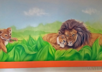 painted lions